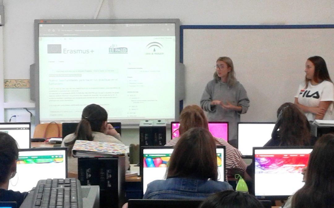 Alumnas presentan su experiencia Erasmus+