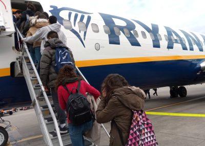 cogiendo el avión