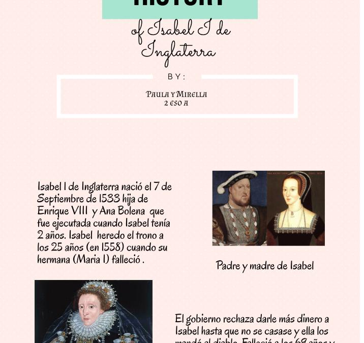 The history of Isabel I de Inglaterra